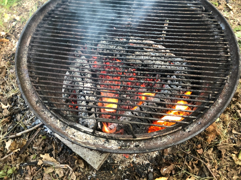 Hot Coals Ready to Cook!